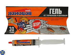 Гель шприц от тараканов Домовой 30 гр