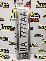 Рамка номерного знака CarLife хром - подставка под номер нержавейка