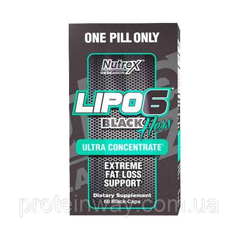 Nutrex Жиросжигатель Lipo 6 Black Hers Ultra Concentrated 60 капс