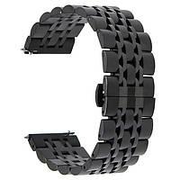 Ремешок BeWatch classic стальной Link для Samsung Galaxy Watch 46 мм Black (1021401.1), фото 1