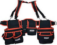 Пояс с 2 накладными сумками с карманами для инструмента YATO