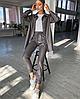 Костюм женский кожаный большого размера, с 48 по 82 размер