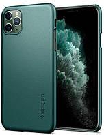Чехол Spigen Thin Fit для iPhone 11 Pro, Midnight Green (ACS00416), фото 1