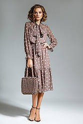 Платье женское Беларусь модель М-7291-2 горох