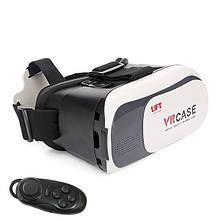 Окуляри віртуальної реальності UFT 3D vr box2 з геймпадом Чорно-білі (hub_Iqcz05922)