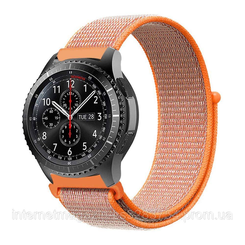 Ремешок BeWatch нейлоновый липучка для Samsung Galaxy Watch 46 мм Красный (1021307)