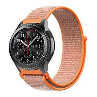 Ремешок BeWatch нейлоновый липучка для Samsung Galaxy Watch 46 мм Красный (1021307), фото 1