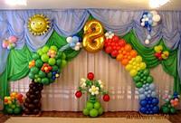 8 марта в детском саду.Оформление воздушными шарами.
