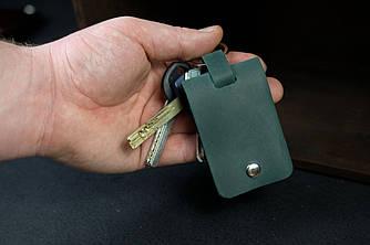 Брелок №3 винтажная кожа цвет Зеленый