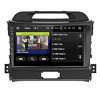 "Штатная автомобильная магнитола 9"" Kia Sportage GPS мощность 4х50 Вт память 1+16 ГБ 4 ядра Wi Fi Андроид 8.1"