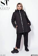 Легкая свободная куртка-ветровка на флисе больших размеров р-ры 48-62 арт. 1127