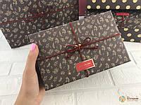 Подарочная коробка коричневая набор 4 шт прямоугольная
