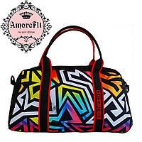 Спортивная сумка для фитнеса Amorefit яркая расцветка