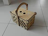 Комодик раздвижной деревянный большой, органайзер для косметики, бьюти кейс