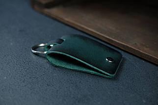 Брелок №3 Кожа Итальянский краст цвет Зеленый, фото 2
