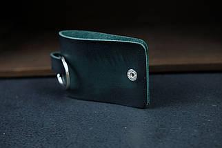 Брелок №3 Кожа Итальянский краст цвет Зеленый, фото 3