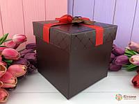 Подарочная коробка квадратная 4 шт набор
