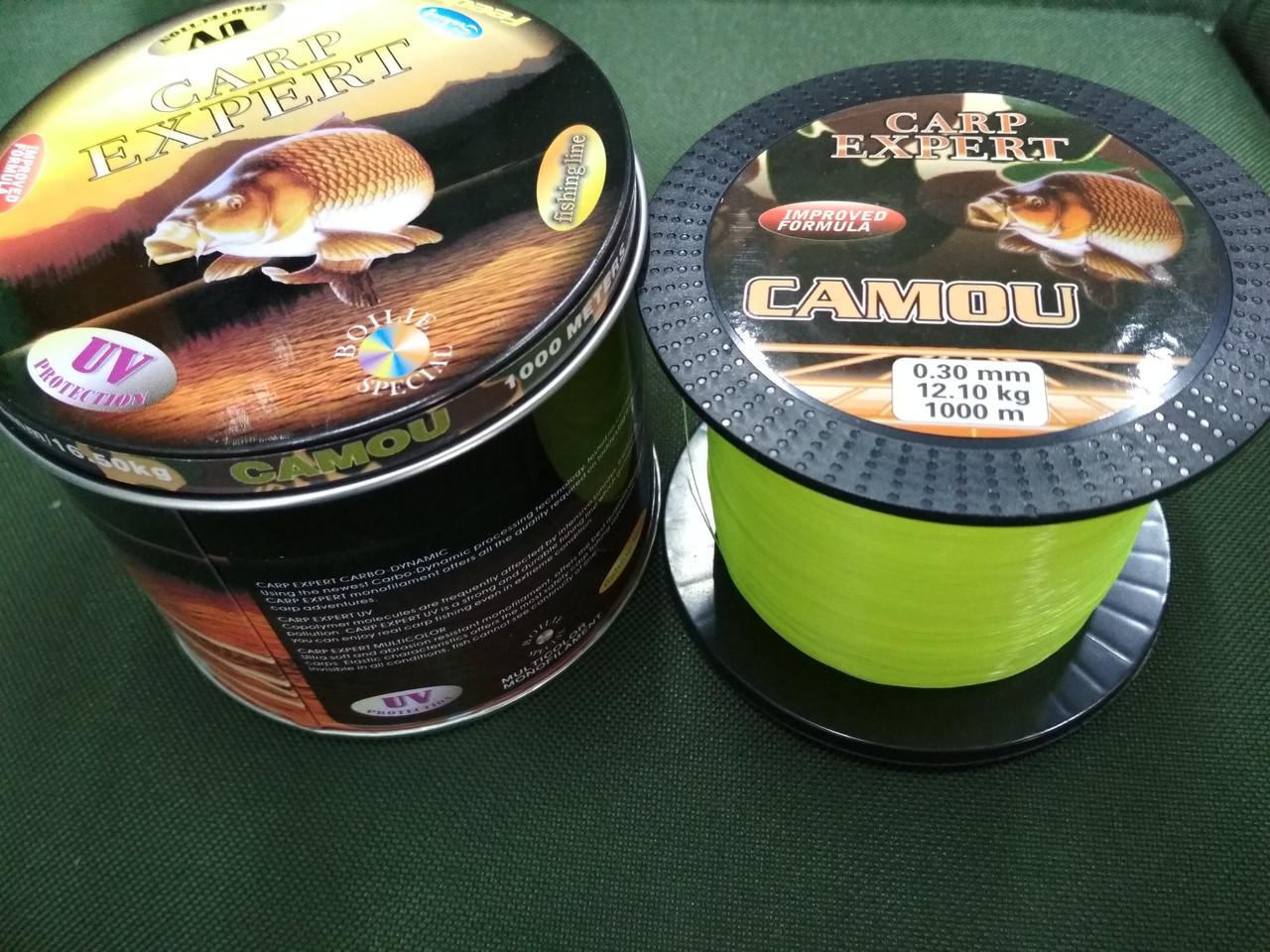 Леска Carp Expert Fluo Yellow 1000м 0.35mm-14.20kg