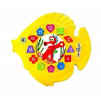 "Игра ""Рыбка"", часы, сортер, 31*29см, в пакете (25шт/кор) *"