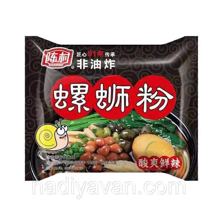 Рисовая лапша быстрого приготовления 100г с речными улитками   Chen Chun