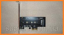 PCI-E x1 - M.2 ( NVMe ) SSD ключ M переходник адаптер + низкопрофильная планка