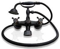 Змішувач для ванни VINTAGE OLD BLACK RETRO, фото 1
