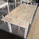 Стол обеденный Марсель 90(+35+35)*70  белый - Нордик Пайн, фото 3