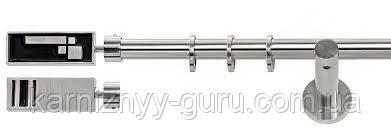 Карниз для штор ø 19 мм, одинарный, наконечник Терра двухсторонний