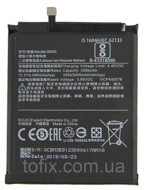 Аккумулятор (АКБ, батарея) BM3E для Xiaomi Mi 8, Li-Polymer, 3,85 B, 3400 мАч, оригинал
