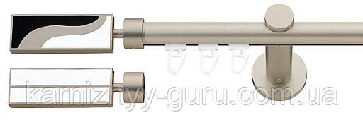 Карниз для штор ø 19 мм, одинарный, наконечник Мурано двухсторонний