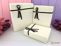 Подарочная коробки набор 3 шт однотонные прямоугольные, фото 1