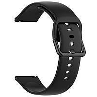 Ремешок BeWatch New силиконовый 20мм для Xiaomi Amazfit BIP Черный (1012301), фото 1