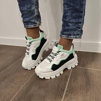 Кросівки жіночі білі на високій підошві