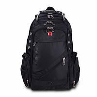 Городской рюкзак Swissgear 8810 Черный с кодовым замком