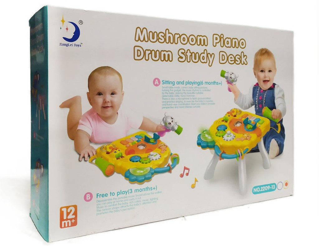 Развивающий Столик Mushroom Piano Drum Study Desk 2209-13