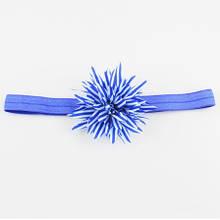 Повязка электрик детская с цветком - размер цветка около 9см, окружность 34-46см