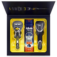 Gillette набор ProShield ( Fusion санок + гель для бритья + футляр)