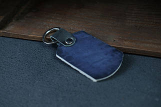 Брелок №4 ремінна шкіра колір Синій, фото 3