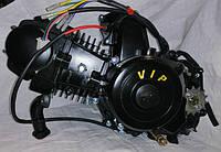 Двигатель125 кубов на мопед  черный, фото 1