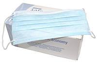 Маски, маска, MASK трехслойные Медиком на резинках, медицинские (Medicom Economy), 50шт./упак., фото 1