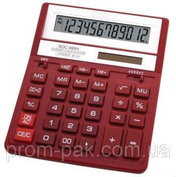 Калькулятор SDC-888 ХRD, червоний 12розр, фото 2