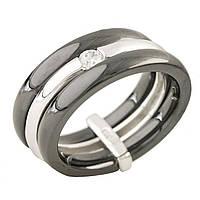 Серебряное кольцо GS с керамикой (1214893) 19 размер