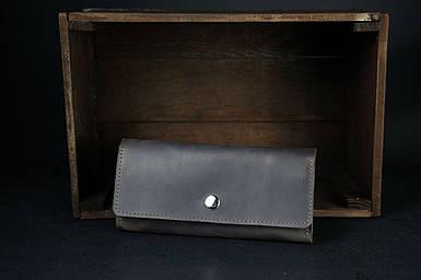 Шкіряний гаманець на 12 карт Вінтажна шкіра колір коричневый, оттенок Шоколад
