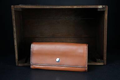 Шкіряний гаманець на 12 карт Шкіра Італійський Краст колір Коричневий