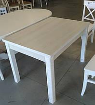Стол кухонный раскладной обеденный Марсель 90(+35+35)*70  белый - Ясень Снежный
