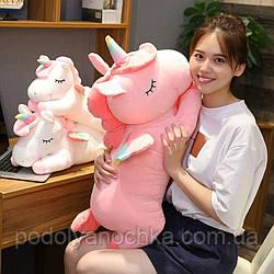 Іграшка-плед-подушка Єдиноріг  🦄  60х30 розмір іграшки.