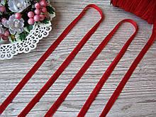 Лента бархатная красная, шириной 1 см