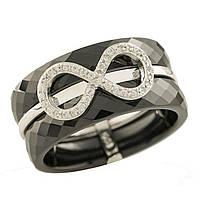 Серебряное кольцо GS с керамикой (1221761) 17 размер