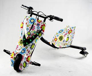 Электроскутер Crazy Bug цветочный принт для райдеров Дрифт-карт Windtech Drift Cart 8″