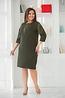 Симпотичное женское платье Зеленое. (3 цвета) Р-ры: 50-60. (104)470А.  , фото 1